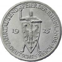 J.321 • 3 Reichsmark Rheinland 1925 E