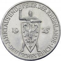 J.322 • 5 Reichsmark Rheinland 1925 E