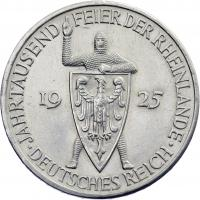 J.322 • 5 Reichsmark Rheinland 1925 A