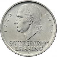 J.336 • 5 Reichsmark Lessing 1929 A