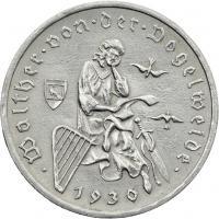 J.344 • 3 Reichsmark Vogelweide 1930 G