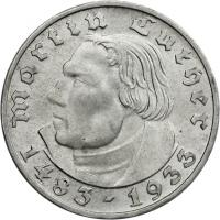 J.352 • 2 Reichsmark Luther 1933 D