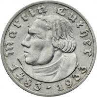 J.353 • 5 Reichsmark Luther 1933 D