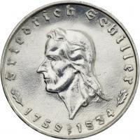J.358 • 2 Reichsmark Schiller 1934
