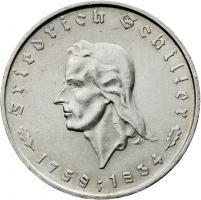 J.359 • 5 Reichsmark Schiller 1934 F