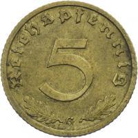 J.363 • 5 Reichspfennig 1936 G
