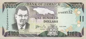 Jamaika / Jamaica P.80d 100 Dollars 2004 (1)