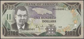 Jamaika / Jamaica P.74 100 Dollars 1987 (1)