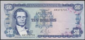 Jamaika / Jamaica P.71a 10 Dollars 1985 (1)