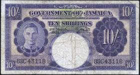Jamaika / Jamaica P.39 10 Shillings 1953 (4)