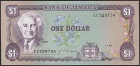 Jamaika / Jamaica P.68Ad 1 Dollar 1990 (1)