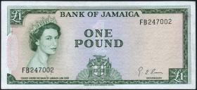 Jamaika / Jamaica P.51Ce 1 Pound (1964) (3+)