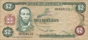 Jamaika / Jamaica P.65a 2 Dollars (1982-86) (3)