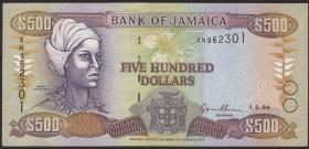 Jamaika / Jamaica P.77a 500 Dollars 1994 (1)