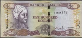 Jamaika / Jamaica P.85f 500 Dollars 2006-2008 (1)