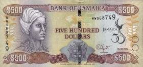 Jamaika / Jamaica P.91 500 Dollars 2012 Gedenkbanknote (1)