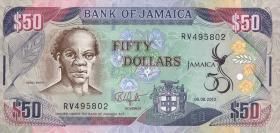 Jamaika / Jamaica P.89 50 Dollars 2012 Gedenkbanknote (1)