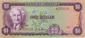 Jamaika / Jamaica P.59CS2 1 Dollar 1977 Specimen * Serie (1/1-)