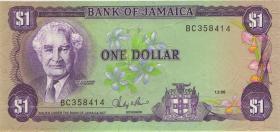 Jamaika / Jamaica P.68Ab 1 Dollar 1986 (1)