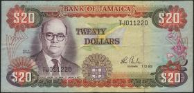 Jamaika / Jamaica P.68c 20 Dollars 1993 (3)