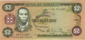 Jamaika / Jamaica P.69a 2 Dollars 1986 (1)
