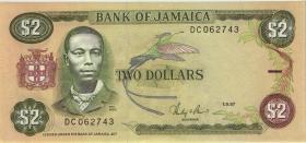 Jamaika / Jamaica P.69b 2 Dollars 1987 (1)