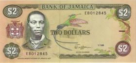 Jamaika / Jamaica P.69c 2 Dollars 1989 (1)