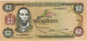 Jamaika / Jamaica P.69e 2 Dollars 1993 (1)
