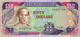 Jamaika / Jamaica P.73a 50 Dollars 1988 (1)
