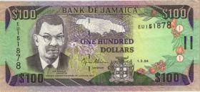 Jamaika / Jamaica P.76a 100 Dollars 1994 (3)