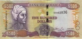 Jamaika / Jamaica P.85c 500 Dollars 2005 (1)