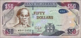 Jamaika / Jamaica P.94c 50 Dollars 2017 (1)
