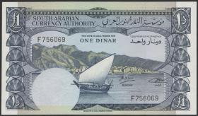 Jemen / Yemen demokratische Rep. P.03b 1 Dinar (1965) (1)