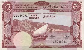 Jemen / Yemen demokratische Rep. P.04b 5 Dinars (1965) (1)