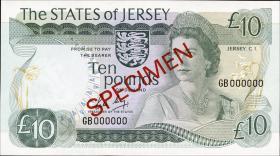 Jersey P.13bs 10 Pounds (1976-88) Specimen (1)