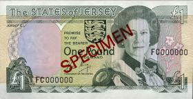 Jersey P.15s 1 Pound (1989) Specimen (1)