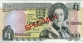 Jersey P.26s 1 Pound (2000) Specimen (1)