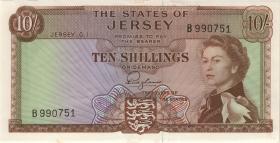 Jersey P.07 10 Shillings (1963) (1/1-)
