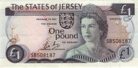 Jersey P.11b 1 Pound (1976-88) (2)