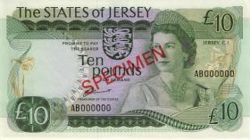 Jersey P.13as 10 Pounds (1976-88) (1) Specimen