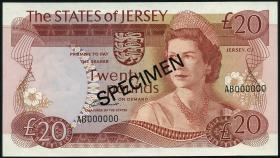 Jersey P.14as 20 Pounds (1976-88) (1) Specimen