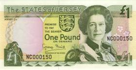 Jersey P.20 1 Pound (1993) (1) low number