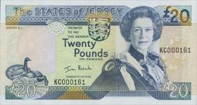 Jersey P.29 20 Pounds (2000) (1) low number