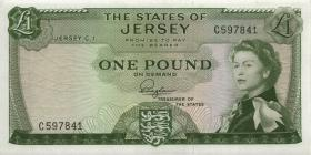 Jersey P.08a 1 Pound (1963) Serie C (1)