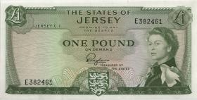 Jersey P.08a 1 Pound (1963) Serie E (1)