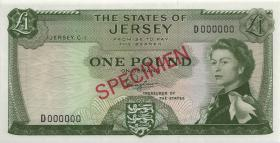 Jersey P.08as 1 Pound (1963) Specimen Serie D (1)