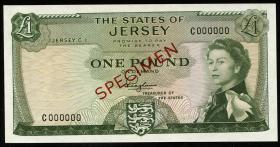 Jersey P.08as 1 Pound (1963) Specimen (1)