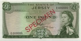 Jersey P.08as 1 Pound (1963) Specimen Serie E (1)