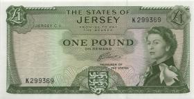 Jersey P.08b 1 Pound (1963) Serie K (1)