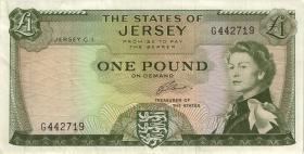 Jersey P.08b 1 Pound (1963) (3)